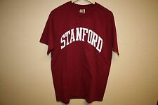 Mens STANFORD UNIVERSITY T-Shirt Collegiate Classic Letterman LARGE L Red