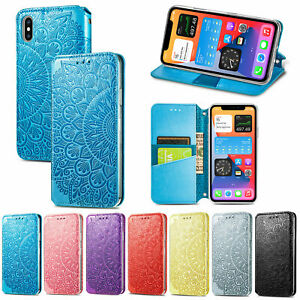 Embossing Bloom Wallet Fashion Magnetic Flip Case Back Cover For Various Phone