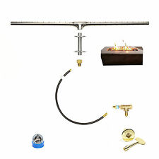 "26"" TROUGH BURNER DELUXE KIT FOR PLUMBED NATURAL GAS/ LP FIRE TABLE/ WALL KIT"