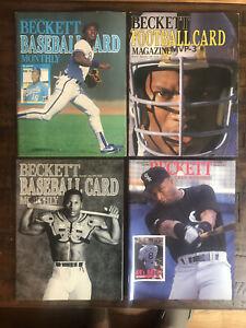 Bo Jackson Beckett Magazine Lot Of 4. Royals, Raiders, & White Sox - See pics