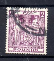 New Zealand 1931 £2 Arms Revenue fine used F182 WS21146