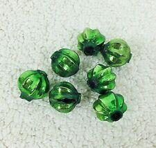 Antique Mercury Glass Christmas Garland Beads Lot 7 Green Melon Star Shape Balls
