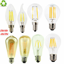 B22 E27 E14 2/4/6/8W Regulable LED bombillas de filamento Edison de estilo vintage y retro, lámpara de luz
