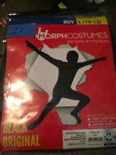 New Black Original Solid Morph Costume Child Size Large (10-12)  Bodysuit