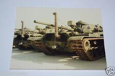 WOW Vintage Military US Army TANKS Convoy Original Photograph Photo Rare 1986