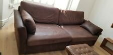 Bespoke, brown soft high quality leather, 4/5 seater, sofa bed with single chair
