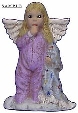 Angel Ornament with Blanket 2.5 inch Hand made Ceramic Ready to paint bisque