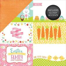 "Echo Park Celebrate Easter 4x6 JOURNALING CARDS 12x12"" d/sided gloss paper"