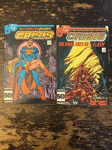 Crisis On Infinite Earths #7, 8 (Death Of Supergirl/Flash) Free Combine Ship
