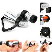 New Silver Mini Focus On  Portable Pocket Compact Monocular Telescope Scope 8X20