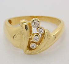 ♦♦14kt 585 Brillantring in Gelbgold Brillant Gold Ring Brilliant Fingerring♦♦