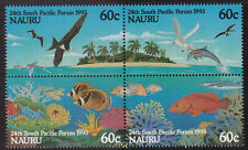 1993 Nauru 25th South Pacific Forum - MUH Block of 4