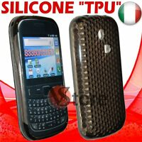 Cover Case Custodia Nero Per SAMSUNG S3350 335 Ch@t in Gel Silicone TPU