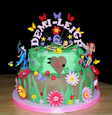 Butterfly, star custom birthday, christening cake topper, personalised name, age
