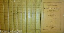 GIULIO CARCANO OPERE COMPLETE 10 VOLUMI F. COGLIATI 1896 TUTTI I  VOLUMI INTONSI