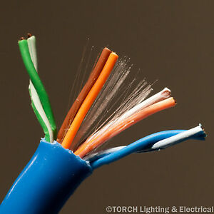 1000' ft BELDEN 4 Pair 24 AWG DATATWIST (R) CAT 5E PVC BLUE CABLE 1583A Wire