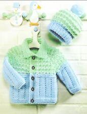 Knitting Pattern Child's Cute Chunky Jacket & Hat Set 3months - 6 years (165)