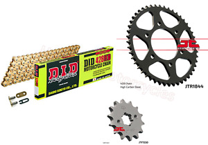 Yamaha YZFR125  DID Gold Heavy Duty Chain and Sprocket Kit Set (2008 to 2015)