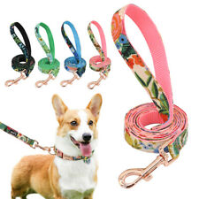 150cm Floral Training Leash for Dogs French Bulldog Strong Nylon Walking Leash