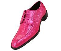 Mens Exotic Lizard Skin Print Cap Toe Oxford Dress Shoe
