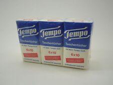 Alte Original Tempo Taschentücher 6er-Pack 1960er Jahre Menthol Kölnisch Wasser