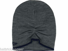 NEW ERA TWO TONE SLOUCH KNIT WINTER HAT/BEANIE/TOQUE - GRAY/NAVY BLUE