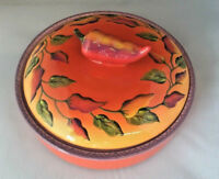 Clay Art Chili Fiesta Hand Painted Stonelite Clay Tortilla Warmer
