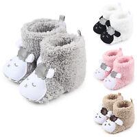 nouveau-né bébé garçon fille semelle souple Poussette Chaussures Molleton