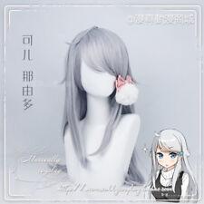 Japan Gray Cosplay Kawaii Gothic Elegant Daily Harajuku Straight Hair Wig #N19