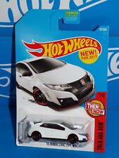 Hot Wheels New For 2017 Then And Now Series #327 '16 Honda Civic Type R White