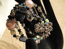 LeBecbir Vintage Triple-Strand Beads & Stones, Mixed Materials Bracelet