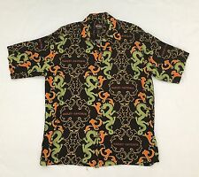 Harley Davidson Tori Richard Dragon Hawaiian SS Shirt Viscose sz Medium