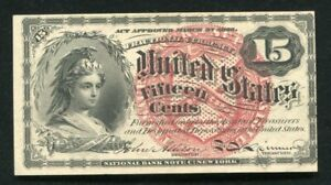 FR. 1268 15 FIFTEEN CENTS FOURTH ISSUE FRACTIONAL CURRENCY NOTE UNCIRCULATED