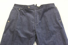 IAN POULTER DESIGNS Logo Mens NAVY BLUE CORDUROY GOLF PANTS NEW 28 x 32