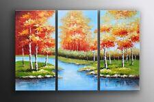 Oil Painting Landscape Creek Palette Knife Canvas FRAMED Last 1