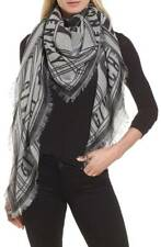 Givenchy Logo X-large Scarf Shawl  140X140 Perfect Gift New rrp375gbp BLK/GREY