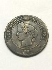 1882-A France 5 Centimes VG #6847