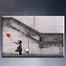 "NEW Banksy - Graffiti Balloon Girl 24""x36"" Canvas Art Print Wall Art Poster"
