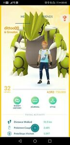 Pokémon Go account shiny giratina shiny groudon charizard shiny articuno moltres