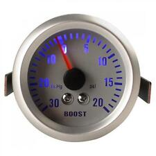 Mini 52mm DC12V 0.3A 52mm 0~30in.Hg / 0~20PSI Auto Car Turbo Boost Gauge Meter