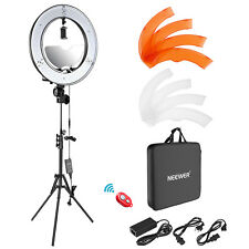 Neewer Photgraphy 18-inch Outer LED Ring Light Kit with Light Stand and Mirror