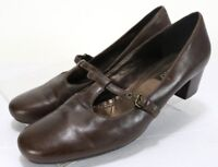ECCO Women's $95 Low Heels Comfort Shoes Size EU 42 US 11-11.5  Leather Brown