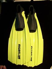 Shoreline Akona Flippers snorkle fins diving scuba swimming sz 38-39 5-6