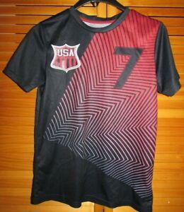 Youth Team USA SS Soccer Futbol jersey #7 shirt Sz XL 14/16 Quick Dri GUC