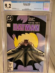 BATMAN #405 CGC 9.2 NM White Pages 1st 1st App of Carmine Falcone free shipping