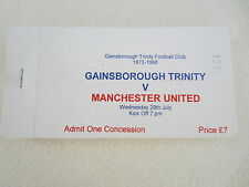 Manchester United Football Tickets & Stubs