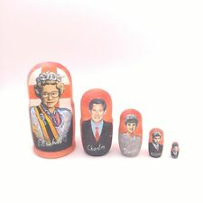 "British Royal Family Nesting Dolls - Hand Painted 7"" Steinpol? 20052 Diana"