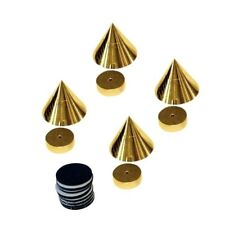 Dynavox 4er Set Absorber Messing Spikes Noisekiller Boxenfüße Farbe Gold