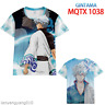 Anime Gintama Cosplay Full color 3D Summer Tops T-shirt Casual Short Sleeve Tee