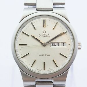 Vintage Omega Geneve Stainless Steel 36mm Case & Strap Cal.1022 Year 1979